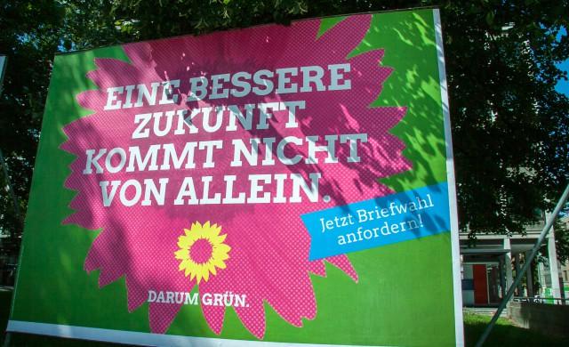 Plakataktion zur Bundestagswahl