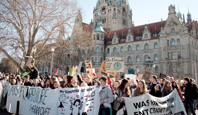Schüler*innen streiken für das Klima